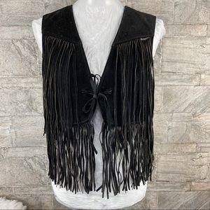 Vintage 70s suede fringe vest by Schott NYC